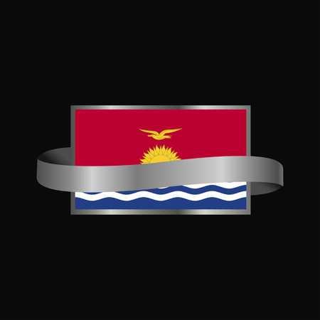 Kiribati flag Ribbon banner design Vektoros illusztráció