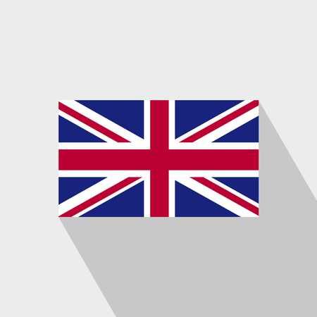 United Kingdom flag Long Shadow design vector