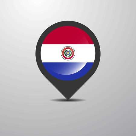 Paraguay Map Pin