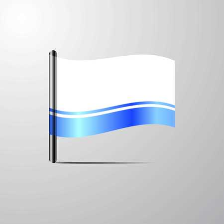 Altai Republic waving Shiny Flag design vector