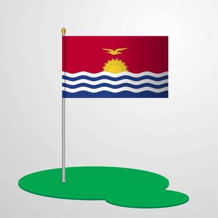 Kiribati Flag Pole