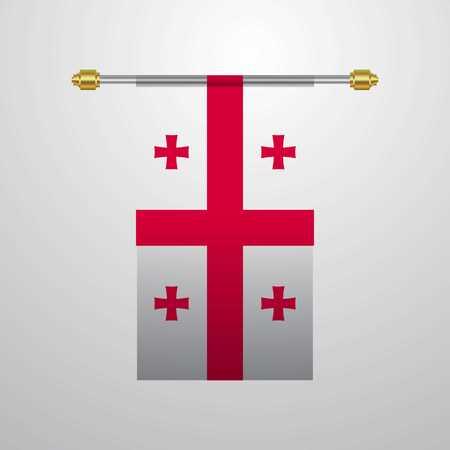 Georgia hanging Flag