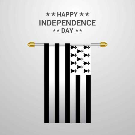 Brittany Independence day hanging flag background