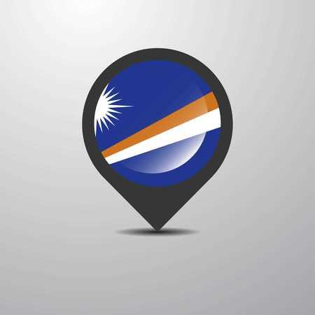 Marshall Islands Map Pin Çizim