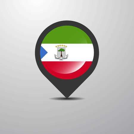 Equatorial Guinea Map Pin