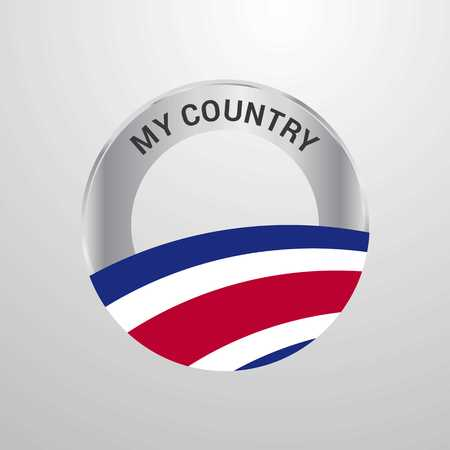 Costa Rica My Country Flag badge