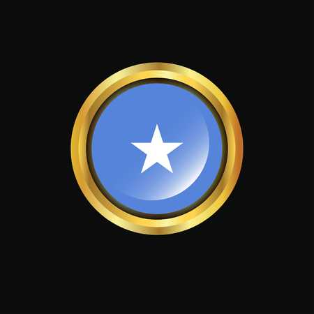 Somalia flag Golden button