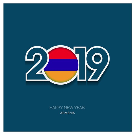 2019 Armenia Typography, Happy New Year Background