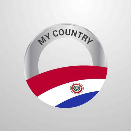 Paraguay My Country Flag badge