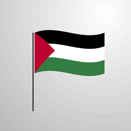 Palestine waving Flag 向量圖像