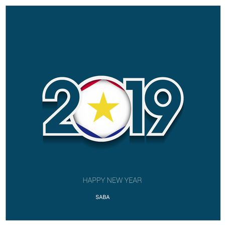 2019 saba Typography, Happy New Year Background