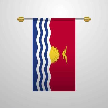 Kiribati hanging Flag Vektoros illusztráció