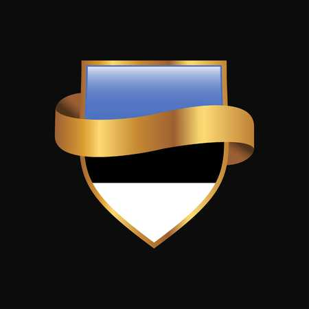 Estonia flag Golden badge design vector