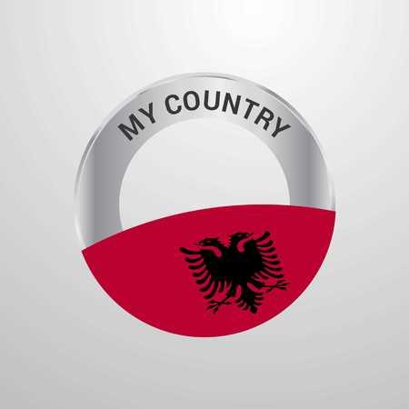 Albania My Country Flag badge Vektorové ilustrace