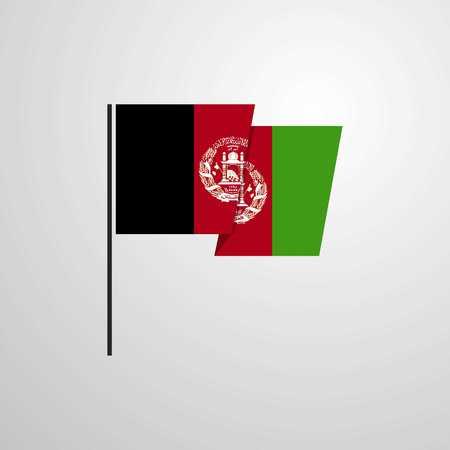 Afghanistan waving Flag design vector