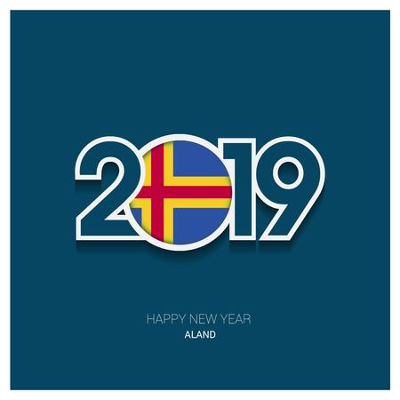 2019 Aland Typography, Happy New Year Background