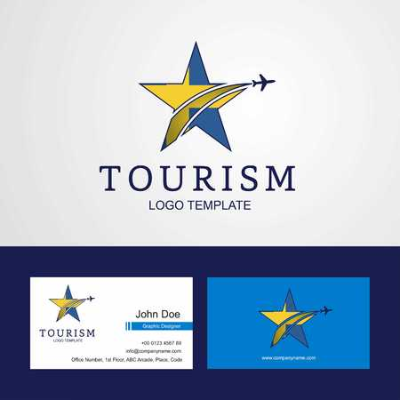 Travel Sweden flag Creative Star Logo and Business card design