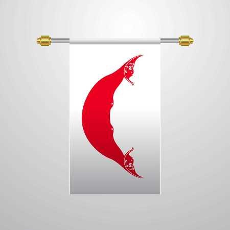 Ecuador hanging Flag Illustration