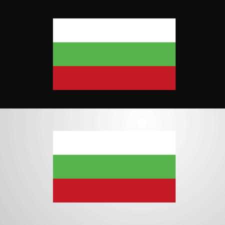 Bulgaria Flag banner design Ilustrace