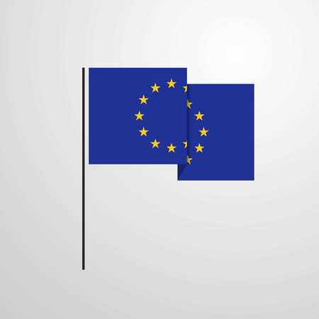 European Union waving Flag design vector
