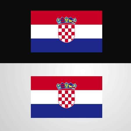 Croatia Flag banner design