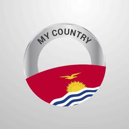 Kiribati My Country Flag badge Vektoros illusztráció
