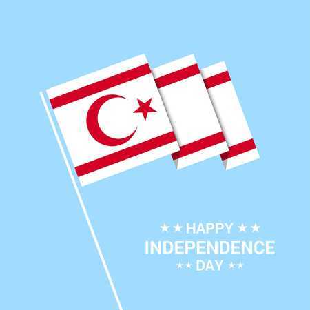 Northern Cyprus Independence day typographic design with flag vector Illustration