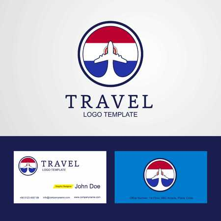 Travel Paraguay Creative Circle flag Logo and Business card design Illustration