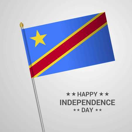 Comoros Independence day typographic design with flag vector
