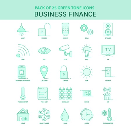 25 Green Business Finance  Icon set
