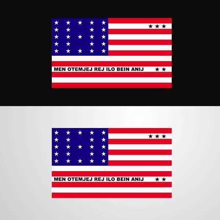 Bikini Atoll Flag banner design Stock Illustratie