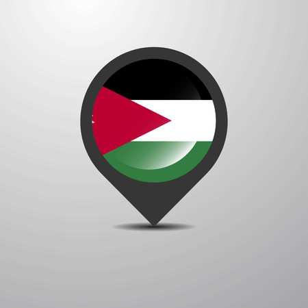 Jordan Map Pin