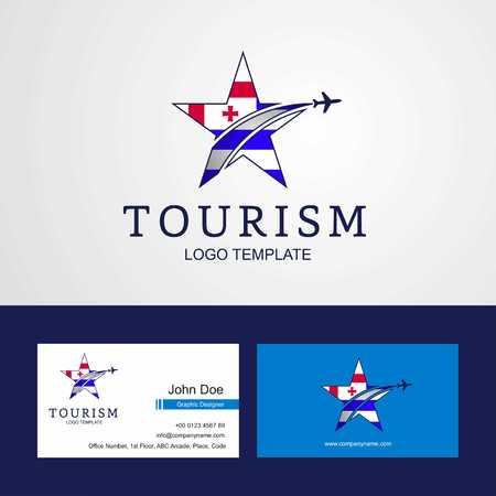 Travel Ajaria flag Creative Star Logo and Business card design