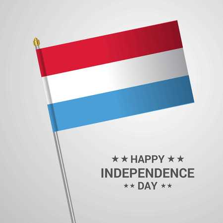 Luxembourg Independence day typographic design with flag vector