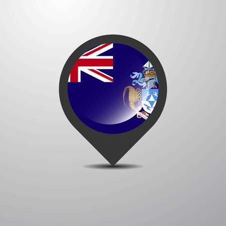 Tristan da Cunha Map Pin