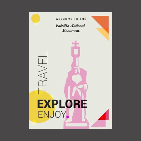 Welcome to The Cabrillo National Monument AZ, USA Explore, Travel Enjoy Poster Template