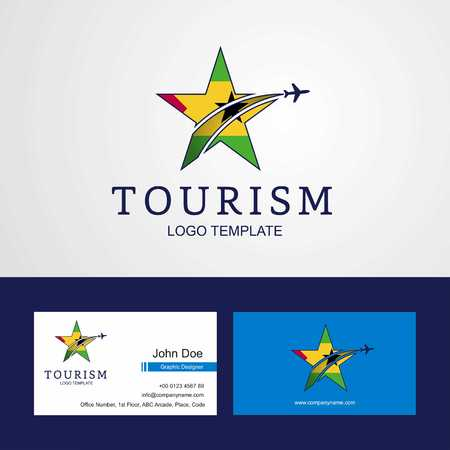 Travel Sao Tome and Principe flag Creative Star Logo and Business card design