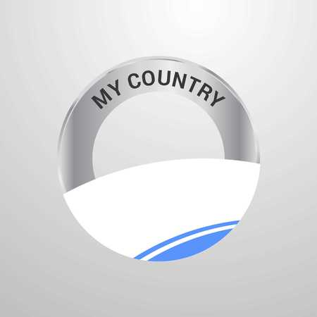 Altai Republic My Country Flag badge 矢量图像