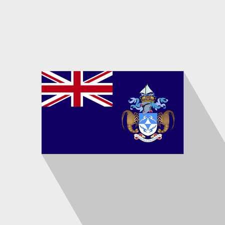 Tristan da Cunha flag Long Shadow design vector