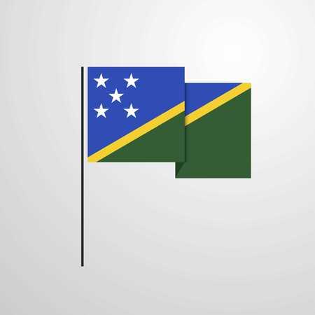 Solomon Islands waving Flag design vector