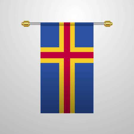 Bandera colgante de Aland