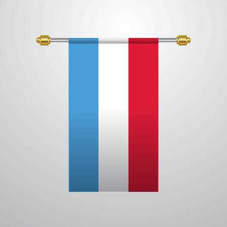 Luxembourg hanging Flag