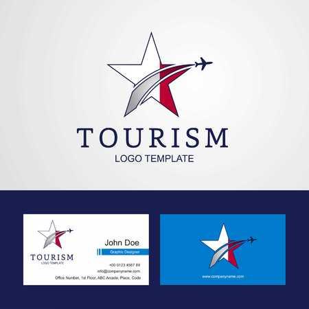 Travel Malta flag Creative Star Logo and Business card design Logó