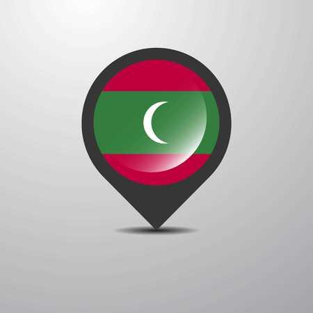 Maldives Map Pin
