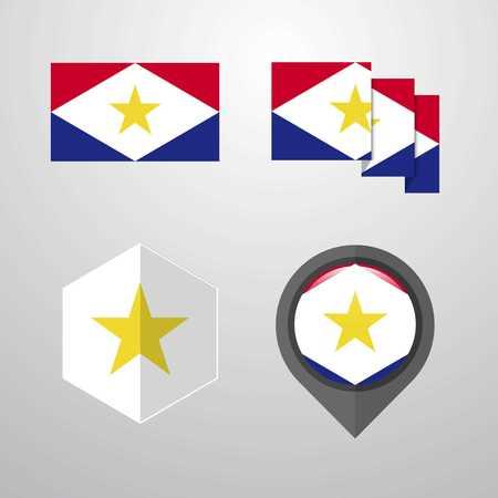 saba flag design set vector