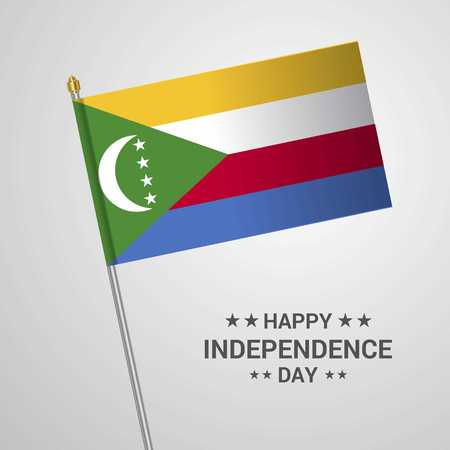 Democratic Republic of the Congo Independence day typographic design with flag vector Иллюстрация