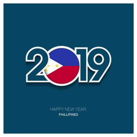 2019 Phillipines Typography, Happy New Year Background