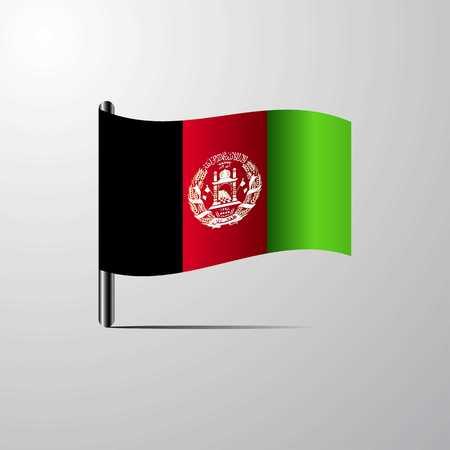 Afghanistan waving Shiny Flag design vector
