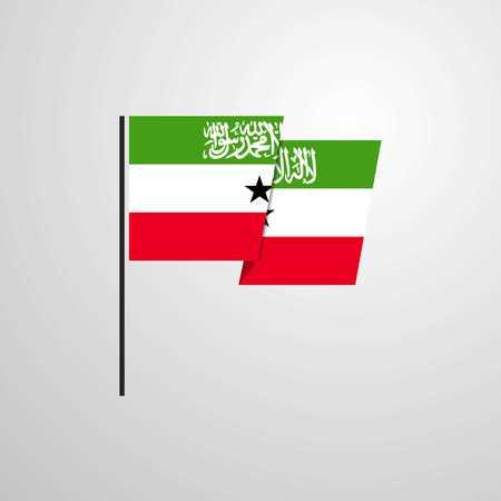 Somaliland waving Flag design vector