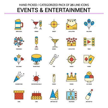 活动和娱乐平线图标集 - 经营概念象设计